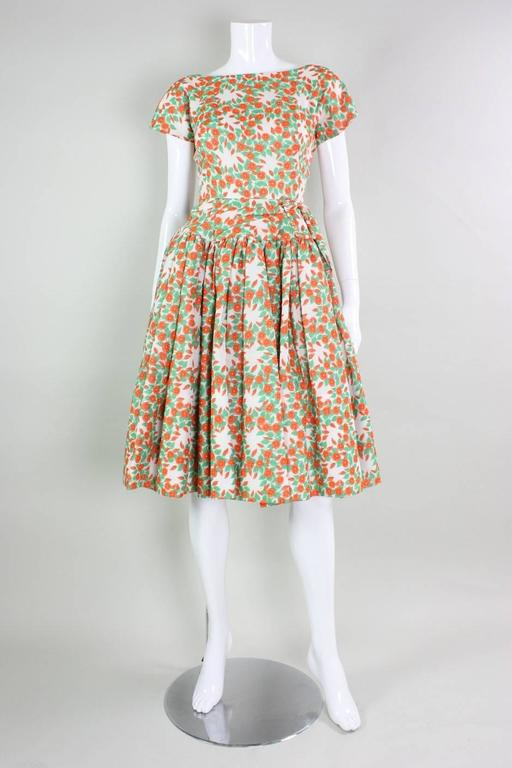 1950's Floral Printed Day Dress 2