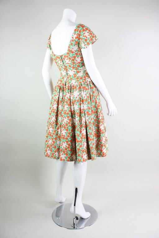 1950's Floral Printed Day Dress 3