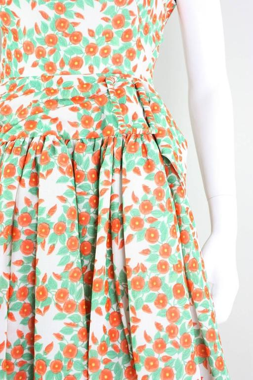 1950's Floral Printed Day Dress 6