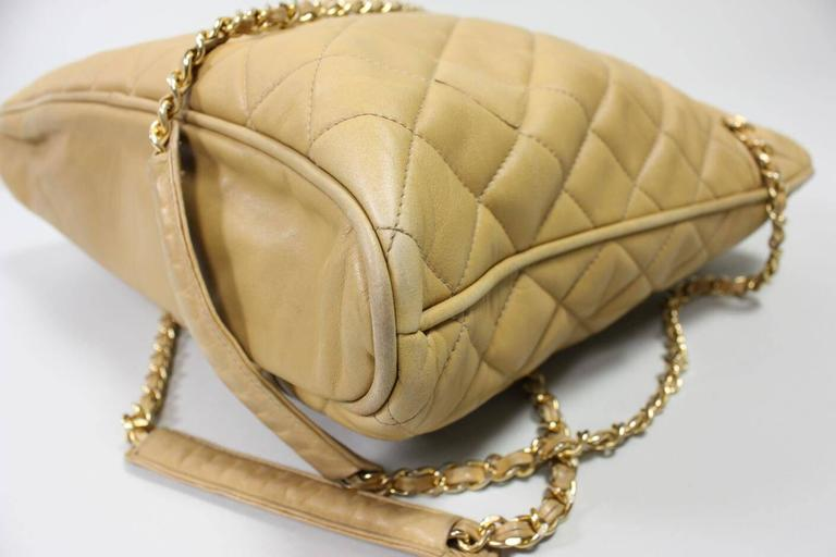 Vintage Chanel Quilted Leather Large Handbag 6