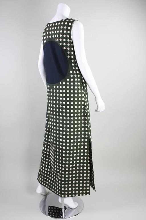 1960's Marimekko Graphic Cotton Maxi Dress 3