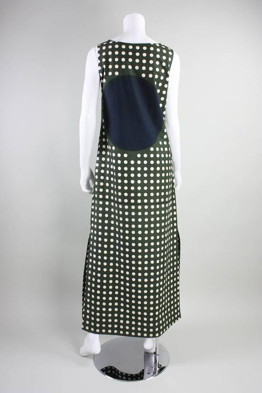 1960's Marimekko Graphic Cotton Maxi Dress 4
