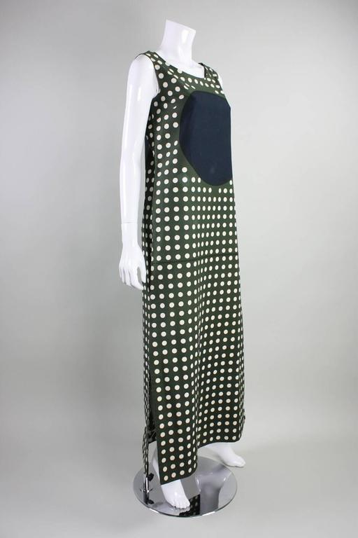 1960's Marimekko Graphic Cotton Maxi Dress 2