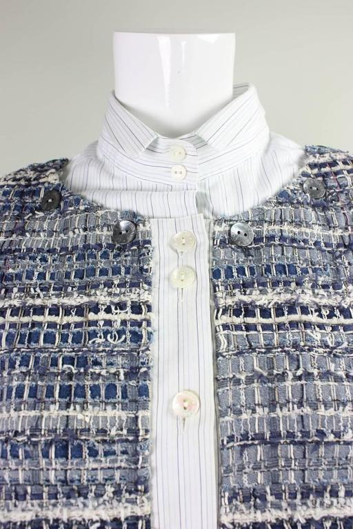 Women's Dolce & Gabbana Woven Denim Jacket For Sale