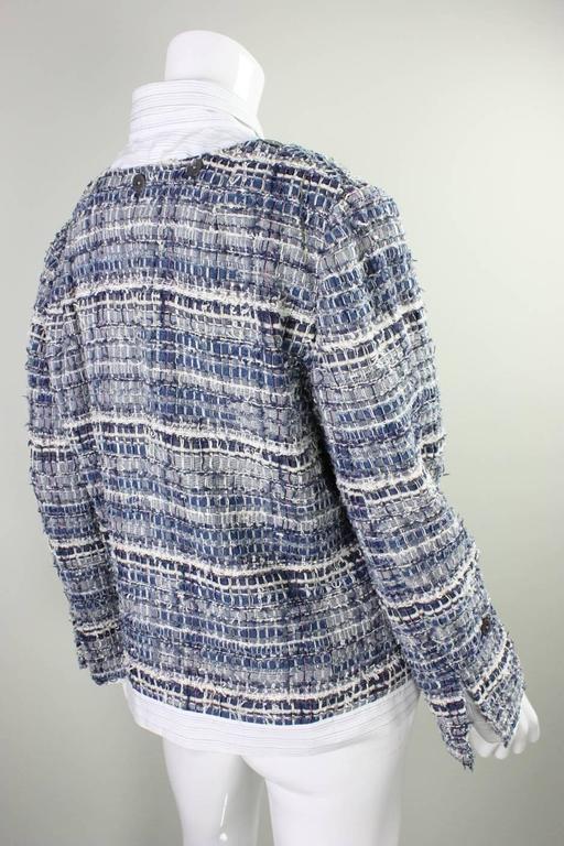 Gray Dolce & Gabbana Woven Denim Jacket For Sale