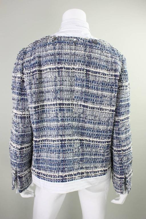 Dolce & Gabbana Woven Denim Jacket In Excellent Condition For Sale In Los Angeles, CA
