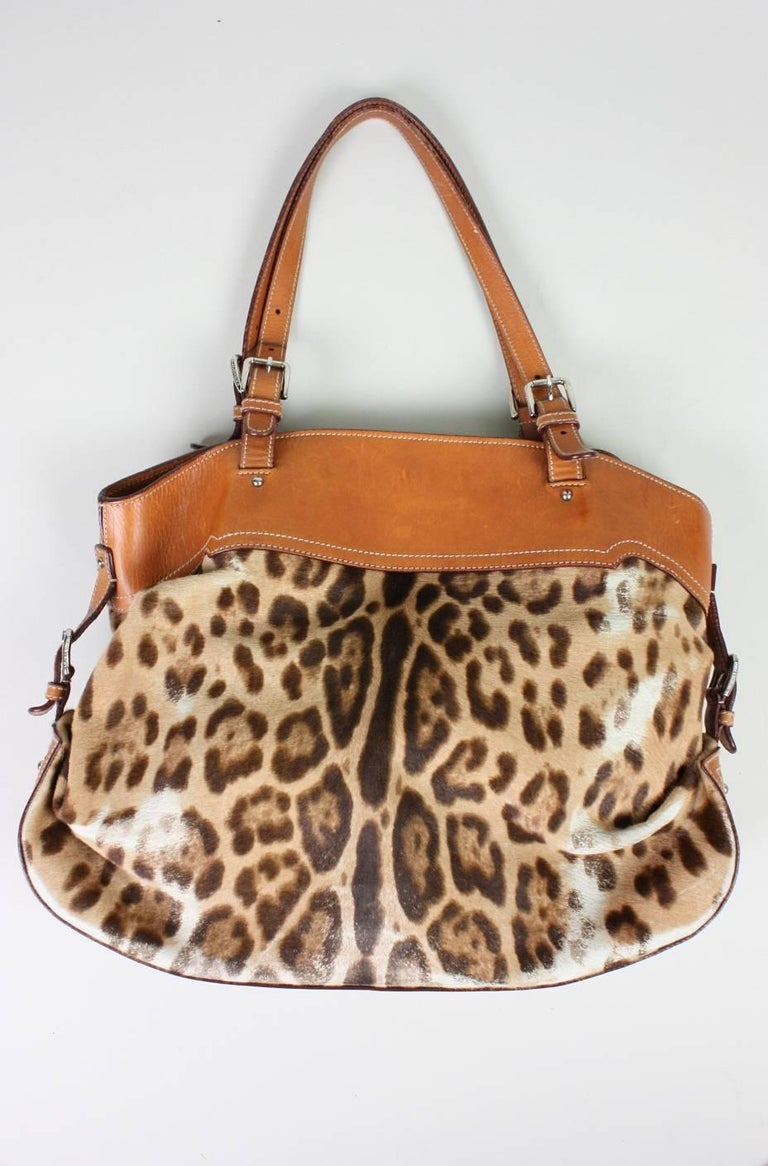 Dolce & Gabbana Miss Adventure Pony Hair Tote For Sale 2