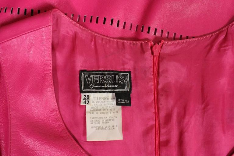 1990's Versus Pink Leather Dress 7