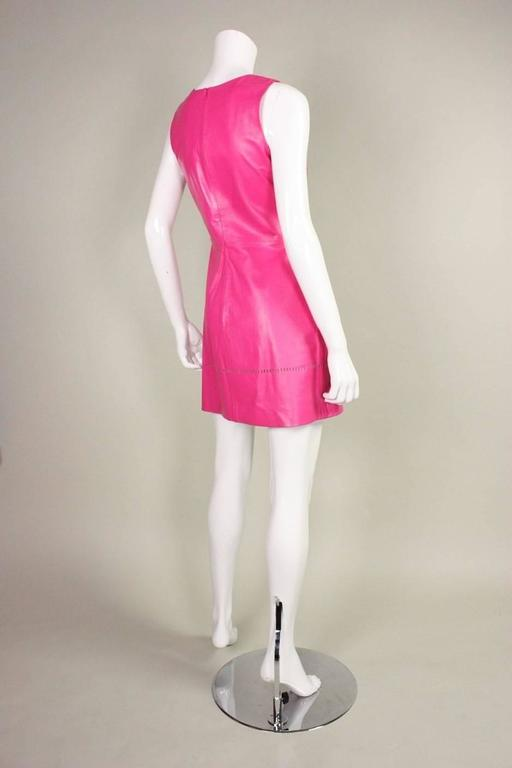 1990's Versus Pink Leather Dress 4