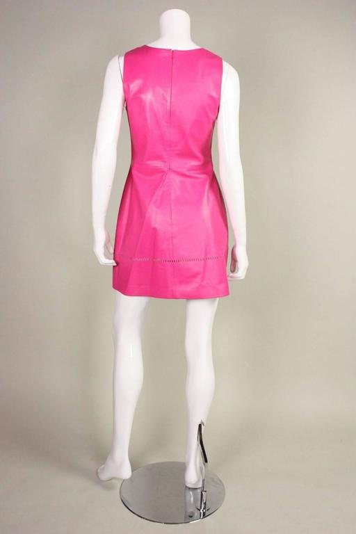 1990's Versus Pink Leather Dress 5