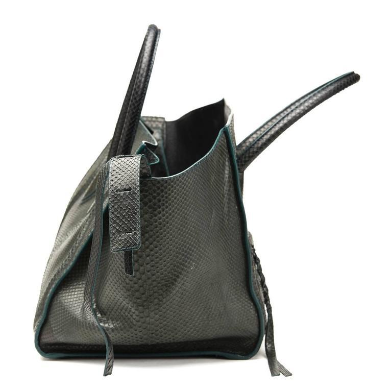 2012 Céline Evergreen Python Medium Phantom Luggage Tote 2