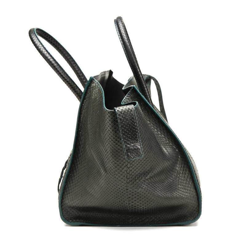 2012 Céline Evergreen Python Medium Phantom Luggage Tote 3