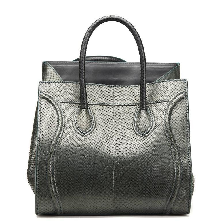 2012 Céline Evergreen Python Medium Phantom Luggage Tote 4