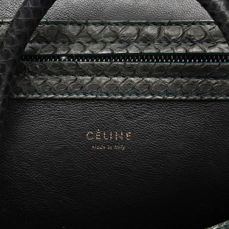 2012 Céline Evergreen Python Medium Phantom Luggage Tote 7