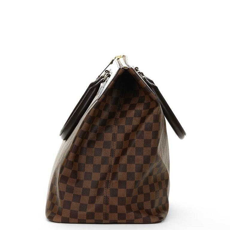 2000s Louis Vuitton Brown Damier Ebene Coated Canvas Greenwich PM 3