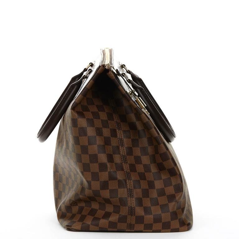 2000s Louis Vuitton Brown Damier Ebene Coated Canvas Greenwich PM 2