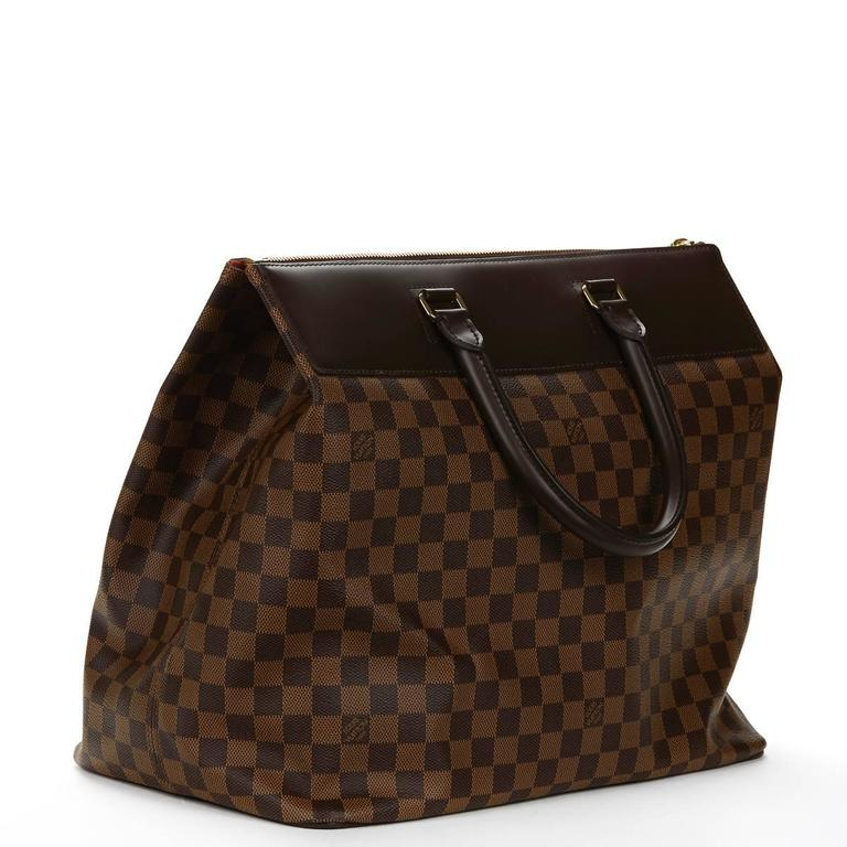 2000s Louis Vuitton Brown Damier Ebene Coated Canvas Greenwich PM 4