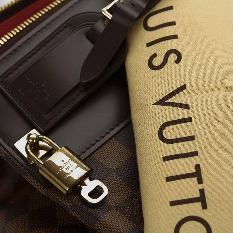 2000s Louis Vuitton Brown Damier Ebene Coated Canvas Greenwich PM 9