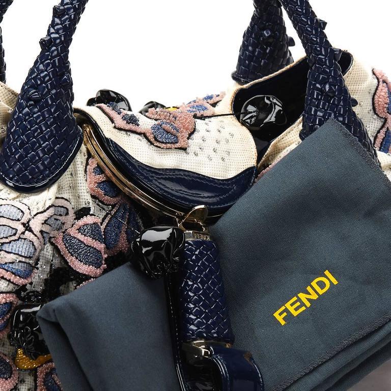2000s FENDI Multicolour Embelished Floral Spy Bag For Sale 5