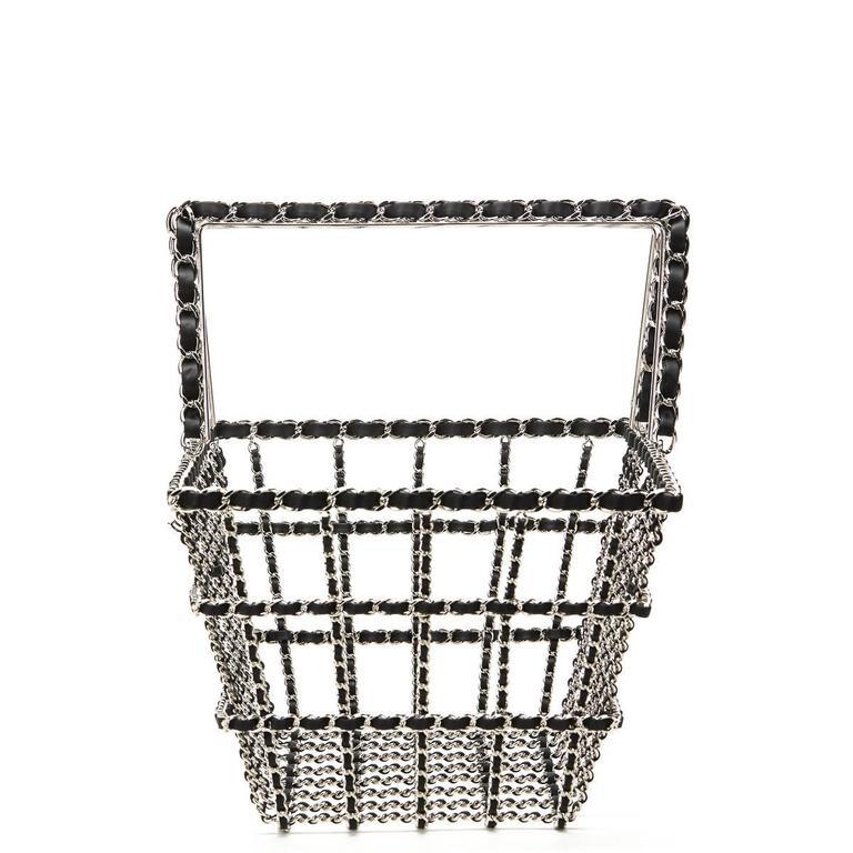 Gray Chanel Act 2 Basket Bag, Fall 2014  For Sale