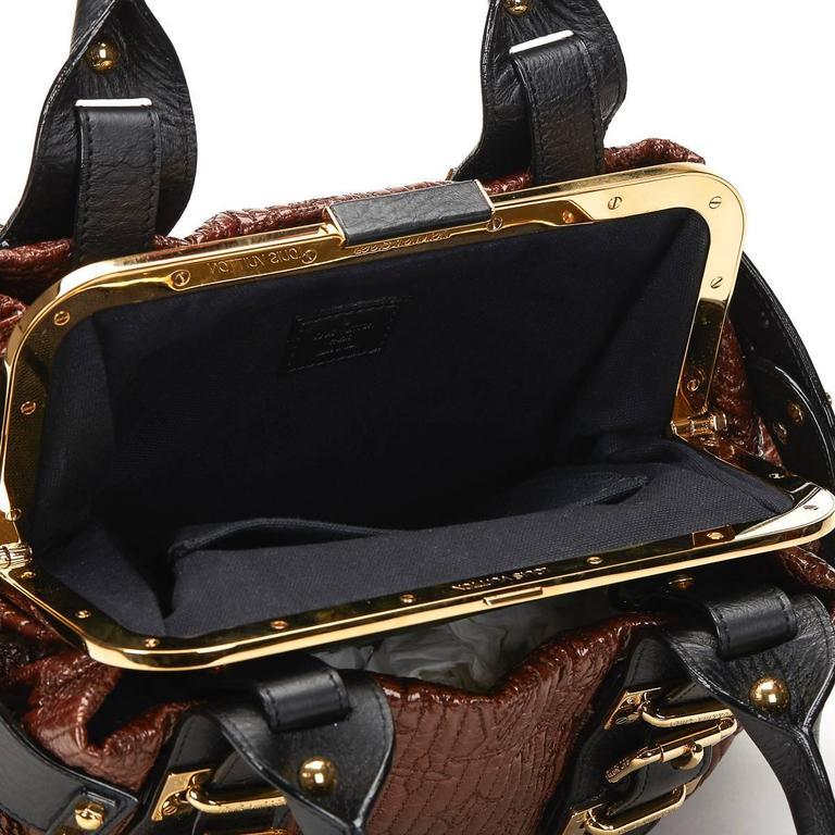 2000s Louis Vuitton Maroon Patent Leather Motard Biker 9