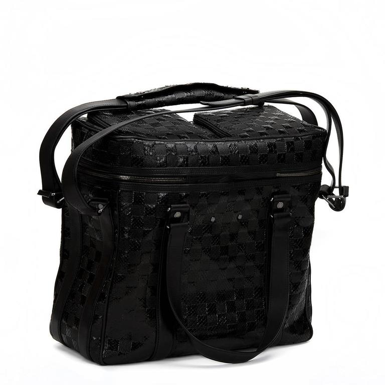 2000s Louis Vuitton Black Damier Python DJ Bag 2