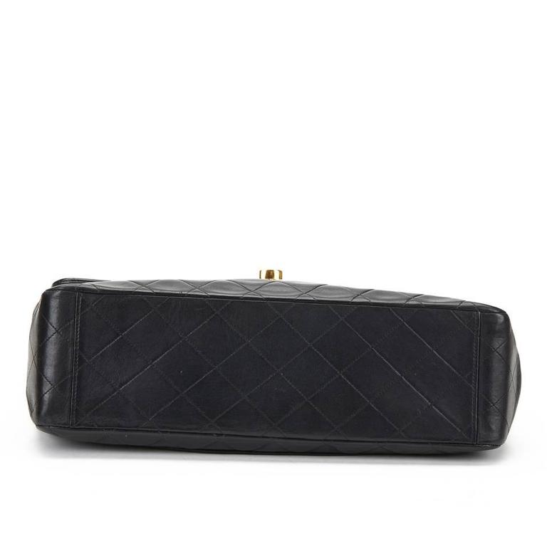 Chanel Black Quilted Lambskin Vintage Maxi Jumbo XL Flap Bag, 1990s  For Sale 1