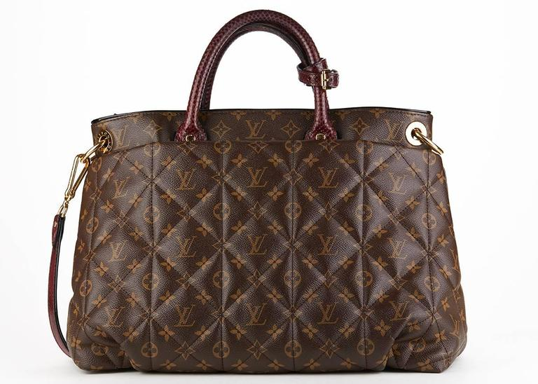 Women's Louis Vuitton Brown Classic Monogram Canvas Ostrich and Python Etoile, 2010s  For Sale