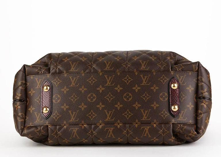 Louis Vuitton Brown Classic Monogram Canvas Ostrich and Python Etoile, 2010s  For Sale 1