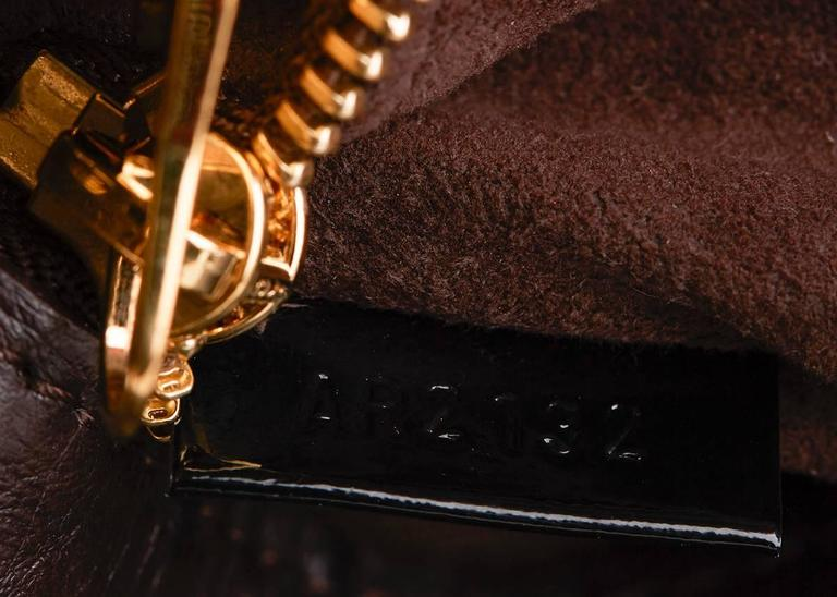 Louis Vuitton Brown Classic Monogram Canvas Ostrich and Python Etoile, 2010s  For Sale 3