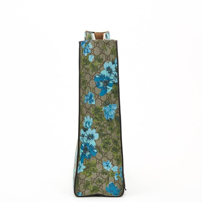 2016 Gucci GG Supreme Canvas XL Floral Print Tote at 1stdibs