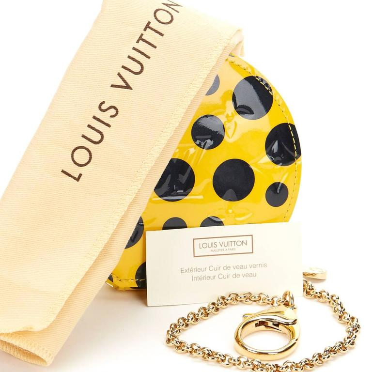 Louis Vuitton Vernis Leather Dots Infinity Juane Yayoi Kusama Round Coin 2010s  For Sale 3