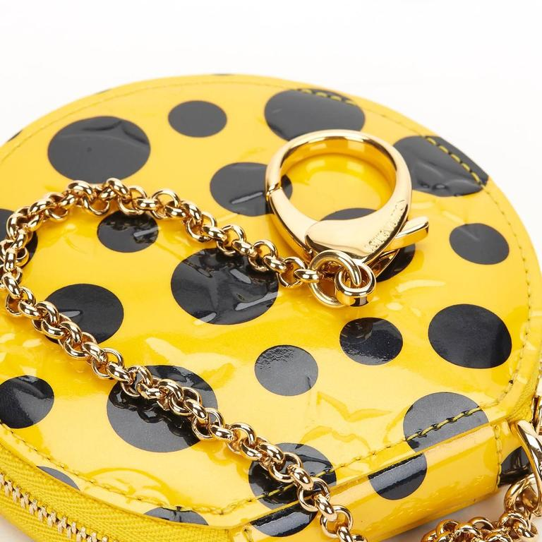 Louis Vuitton Vernis Leather Dots Infinity Juane Yayoi Kusama Round Coin 2010s  For Sale 2