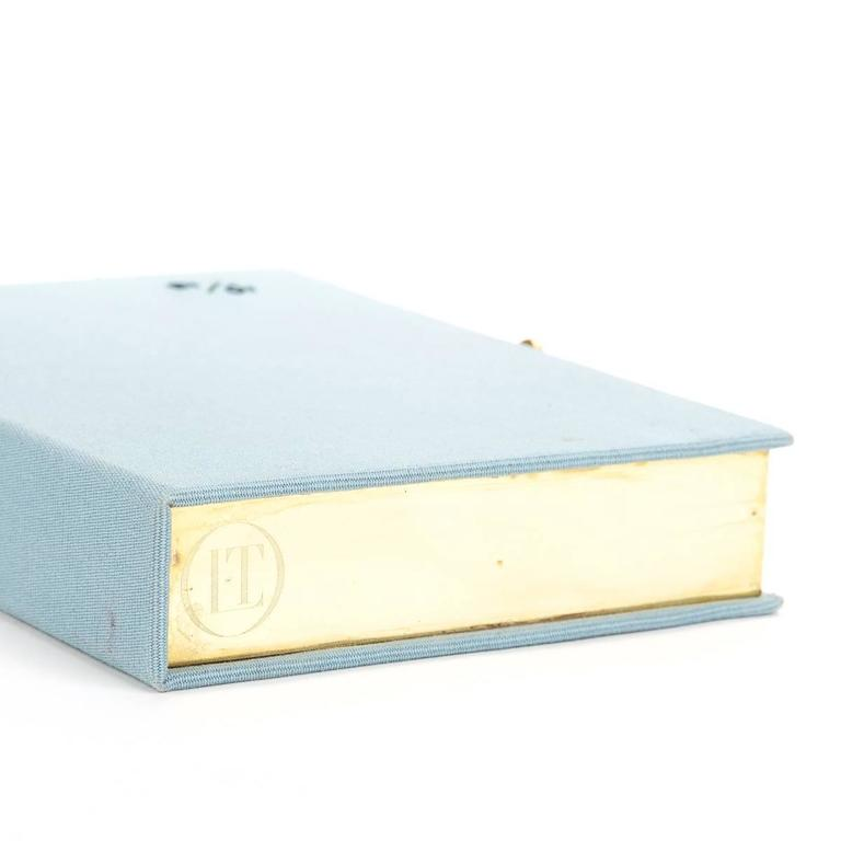 2010s Olympia Le-Tan Blue Fabric L'Amore Coniugale Book Clutch 5