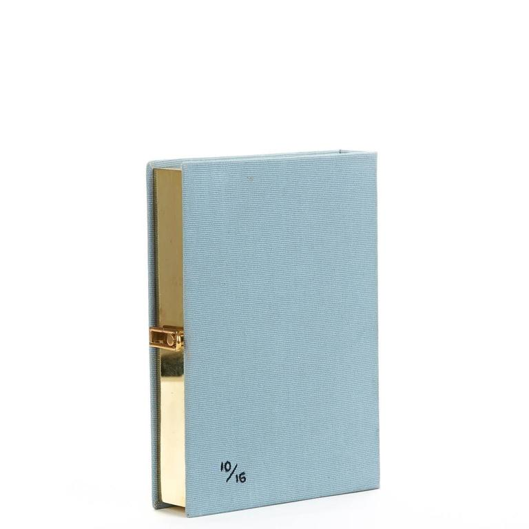 2010s Olympia Le-Tan Blue Fabric L'Amore Coniugale Book Clutch 4