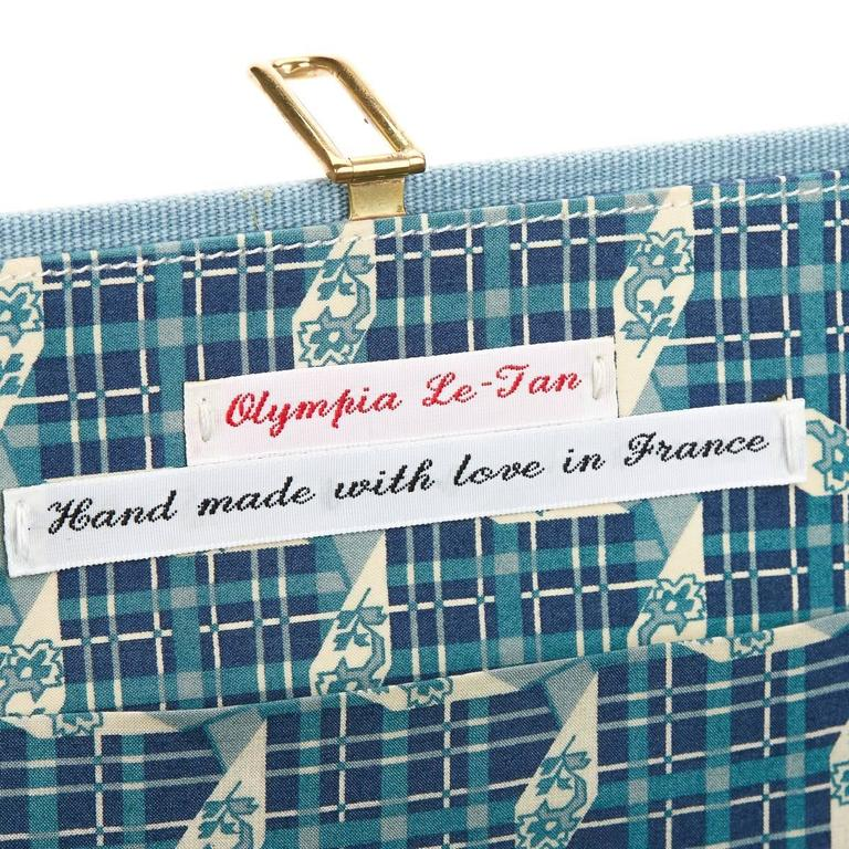 2010s Olympia Le-Tan Blue Fabric L'Amore Coniugale Book Clutch 10