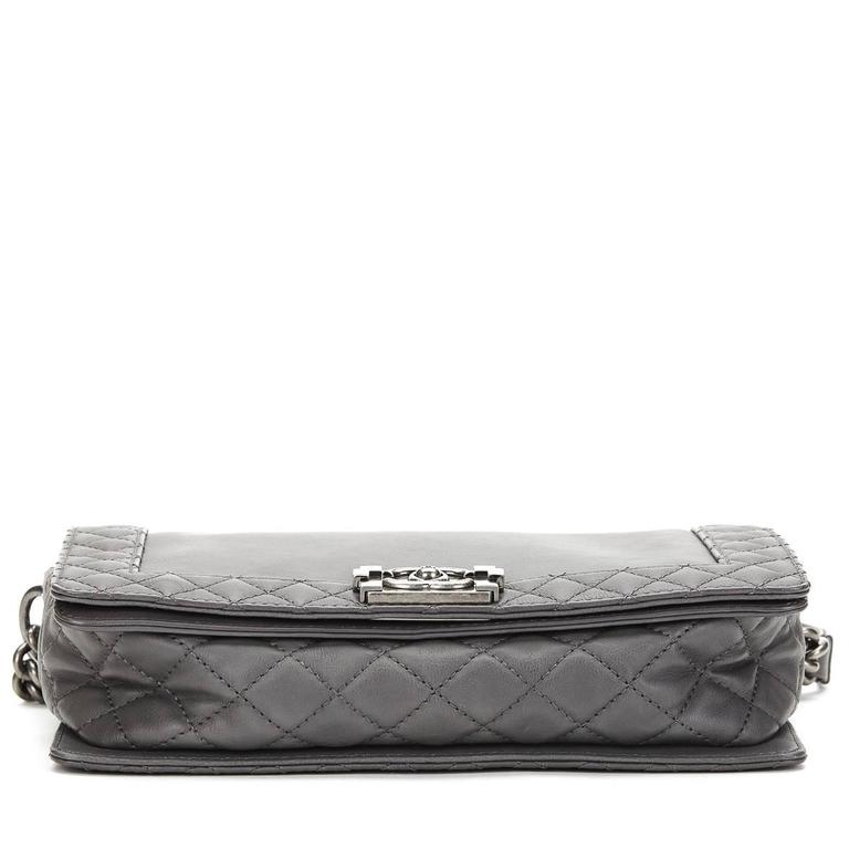 13ebb88b8937 Women's 2010s Chanel Grey Calfskin Medium Le Boy Reverso For Sale