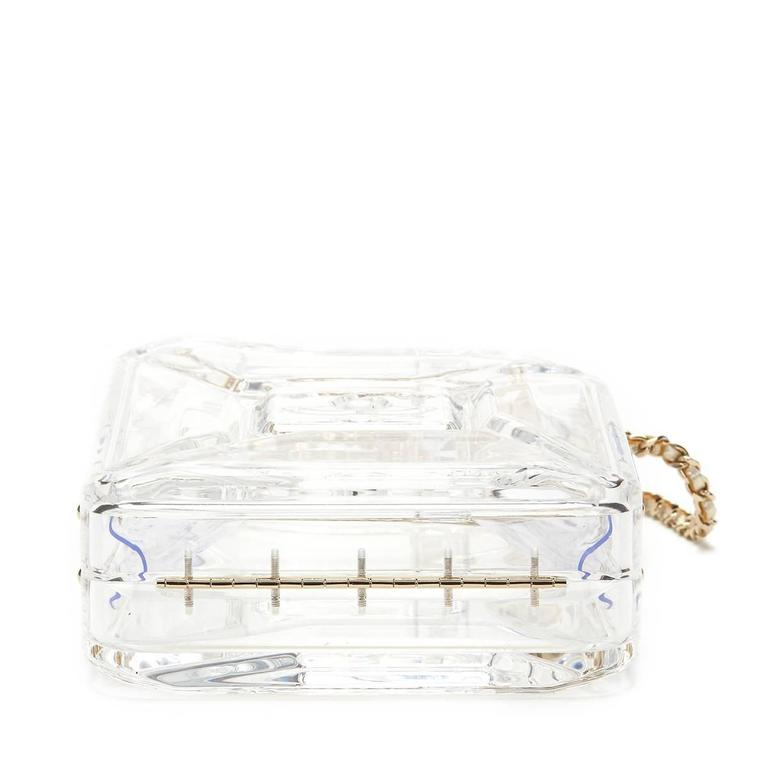 Women's 2010s Chanel Clear Plexiglass Dubai by Night Gas Can Minaudiere For Sale