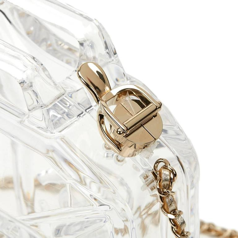 Chanel Clear Plexiglass Dubai by Night Gas Can Minaudiere, 2010s  For Sale 2