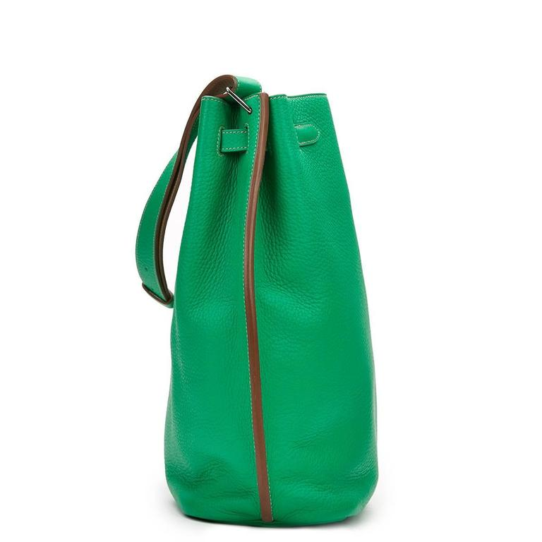 2013 Hermes Menthe Clemence Leather So Kelly 26 2