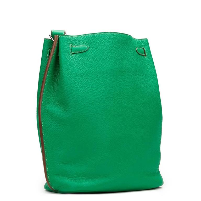2013 Hermes Menthe Clemence Leather So Kelly 26 6