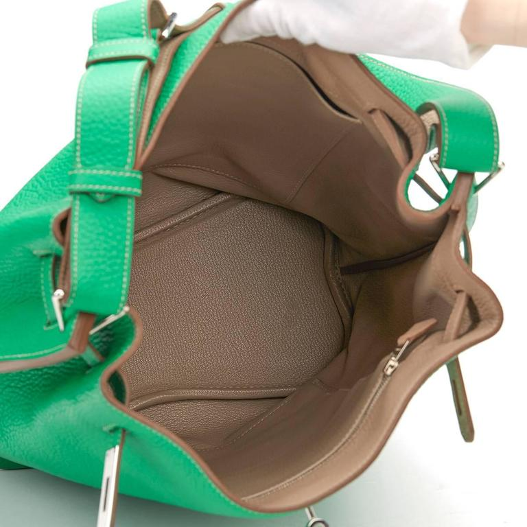 2013 Hermes Menthe Clemence Leather So Kelly 26 8