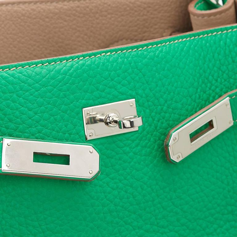 2013 Hermes Menthe Clemence Leather So Kelly 26 7