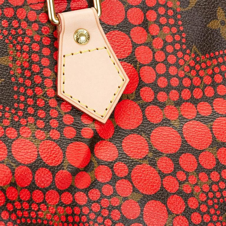 2010s Louis Vuitton Coated Canvas Yayoi Kusama Red Waves Monogram Speedy 30 8