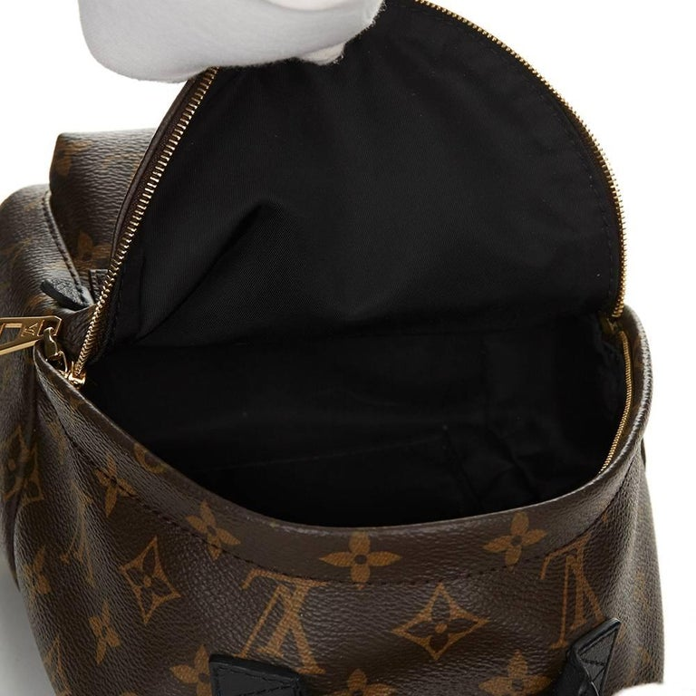 2016 Louis Vuitton Brown Monogram Coated Canvas Palm Springs Backpack PM  For Sale 4 1554db21a0