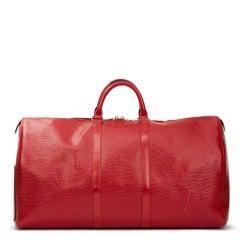 1997 LOUIS VUITTON Red Epi Leather Vintage Keepall 55