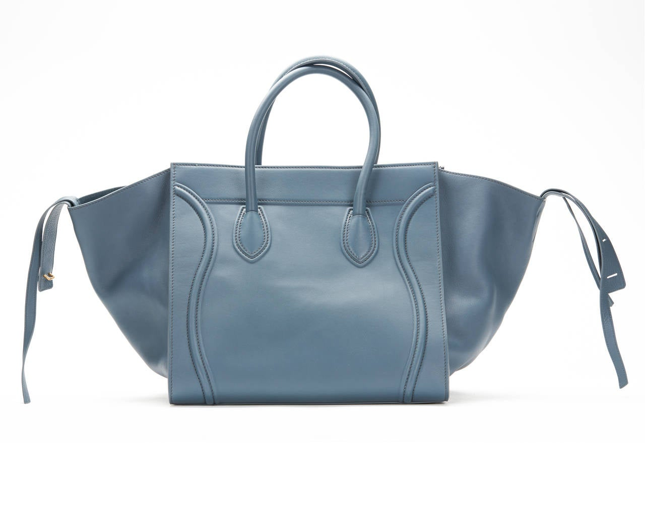 Celine Slate Blue Supple Calfskin Large Phantom Luggage Tote at ...