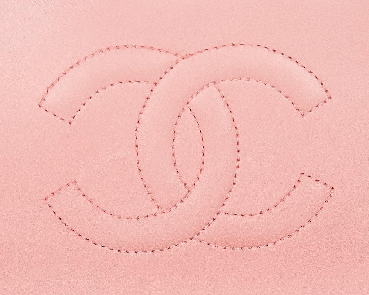 1990s Chanel Pink Lambskin Vintage Mini Flap Bag 7