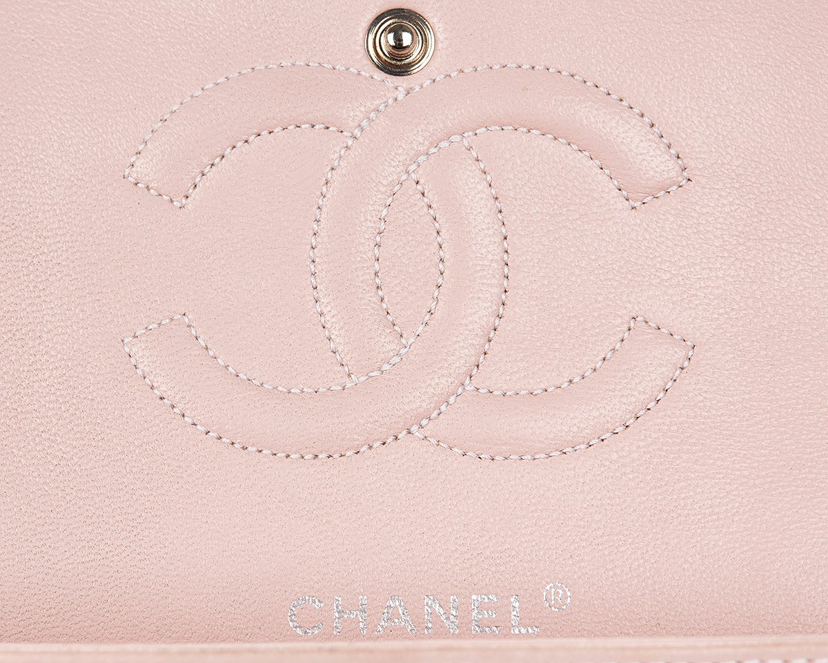 1990's Chanel Pink Multi-Tweed & Pink Leather Vintage Double Flap Bag 7