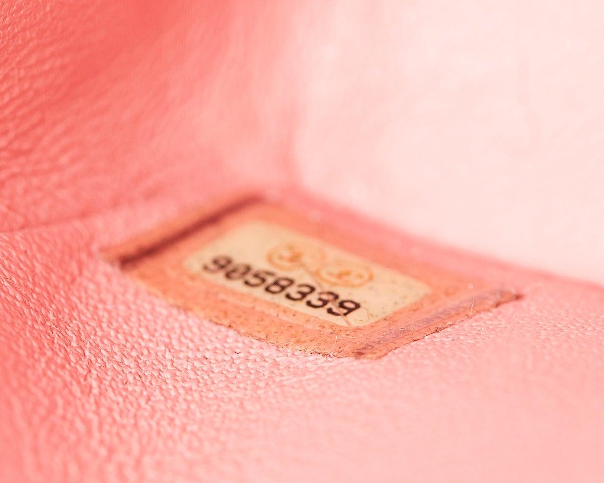 1990s Chanel Pink Lambskin Vintage Mini Flap Bag 8